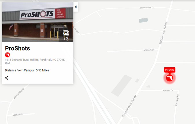 Where to Buy a Gun Within 8 Miles of Wake Forest University ...